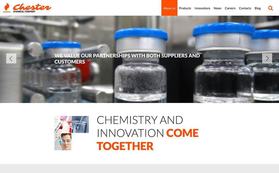 Responsywny szablon strony www #52859 na temat: laboratorium naukowe New Screenshots BIG