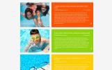 Responsywny szablon strony www Swimming School Clean Responsive HTML5 #52860