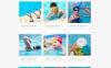 """Tema Siti Web Responsive #52860 """"Swimming School Clean Responsive HTML5"""" Screenshot grande"""