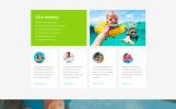 """Swimming School Clean Responsive HTML5"" Responsive Website template"