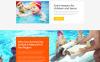 "Website Vorlage namens ""Swimming School Clean Responsive HTML5"" Großer Screenshot"