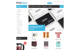Imprinted Items OpenCart Template