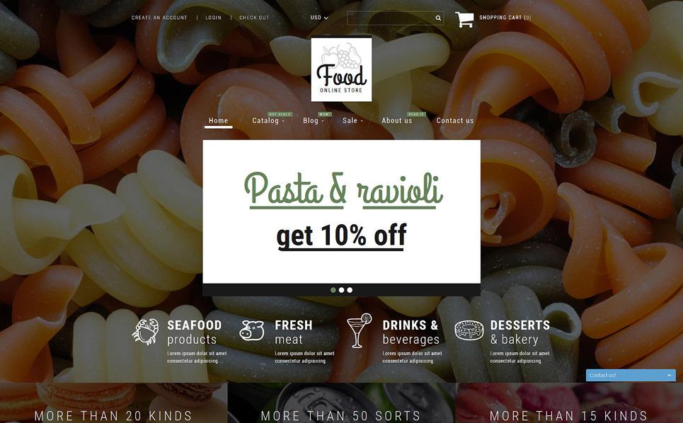 Responzivní Shopify motiv na téma Obchod s potravinami New Screenshots BIG