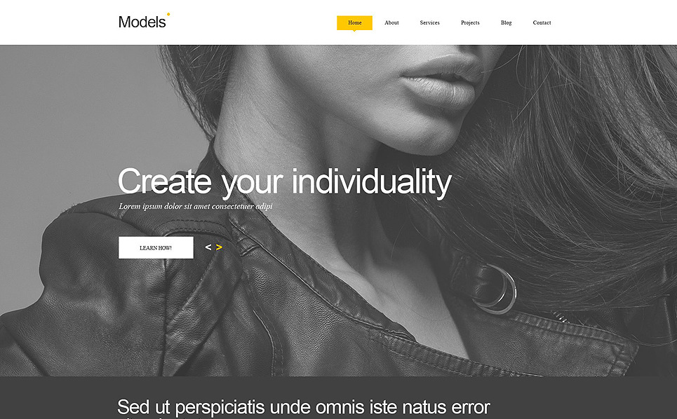 Muse šablona Modelingová agentura New Screenshots BIG