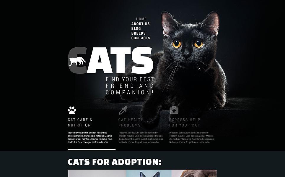 Responzivní Šablona webových stránek na téma Kočky New Screenshots BIG