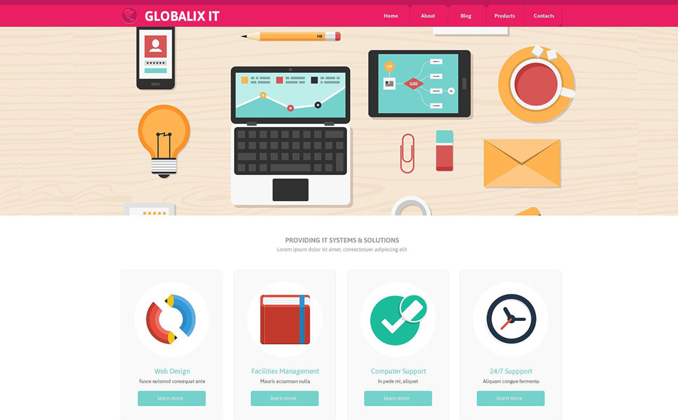 Reszponzív IT Weboldal sablon New Screenshots BIG