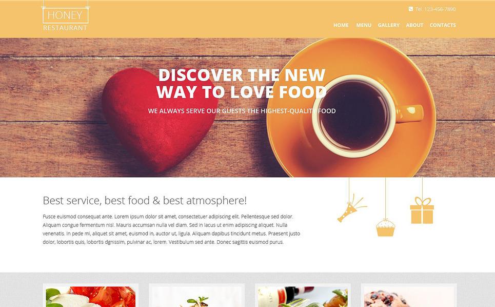 Responsive Website Vorlage für Europäisches Restaurant  New Screenshots BIG