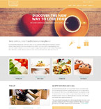 Cafe & Restaurant Website  Template 52880