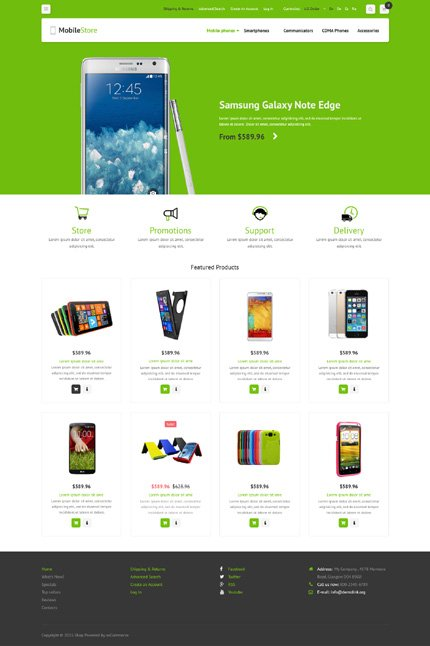 osCommerce Template 52881 Main Page Screenshot