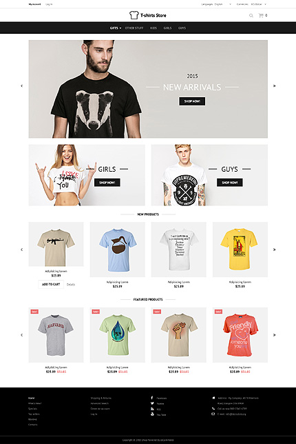 osCommerce Template 52882 Main Page Screenshot