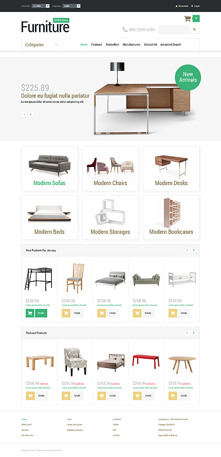osCommerce Template 52883 Main Page Screenshot