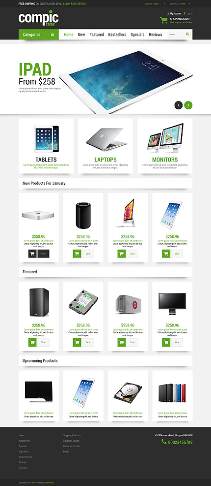 osCommerce Template 52884 Main Page Screenshot