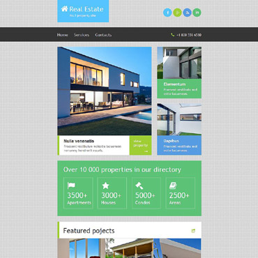 Real Estate Templates  Website Templates