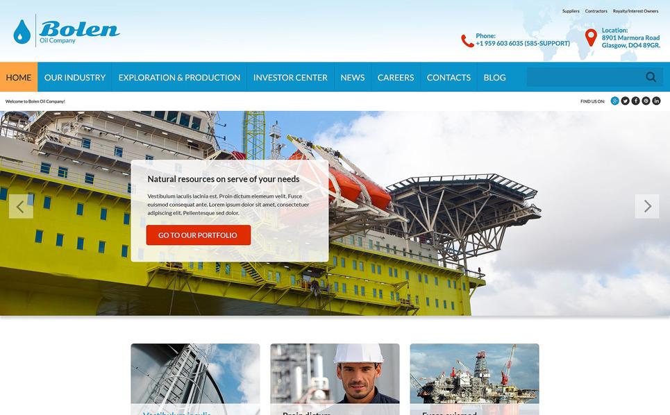 Адаптивний Шаблон сайту на тему газ та нафта New Screenshots BIG