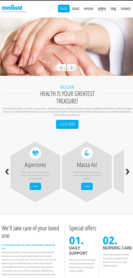 Drupal Template 52894 Main Page Screenshot