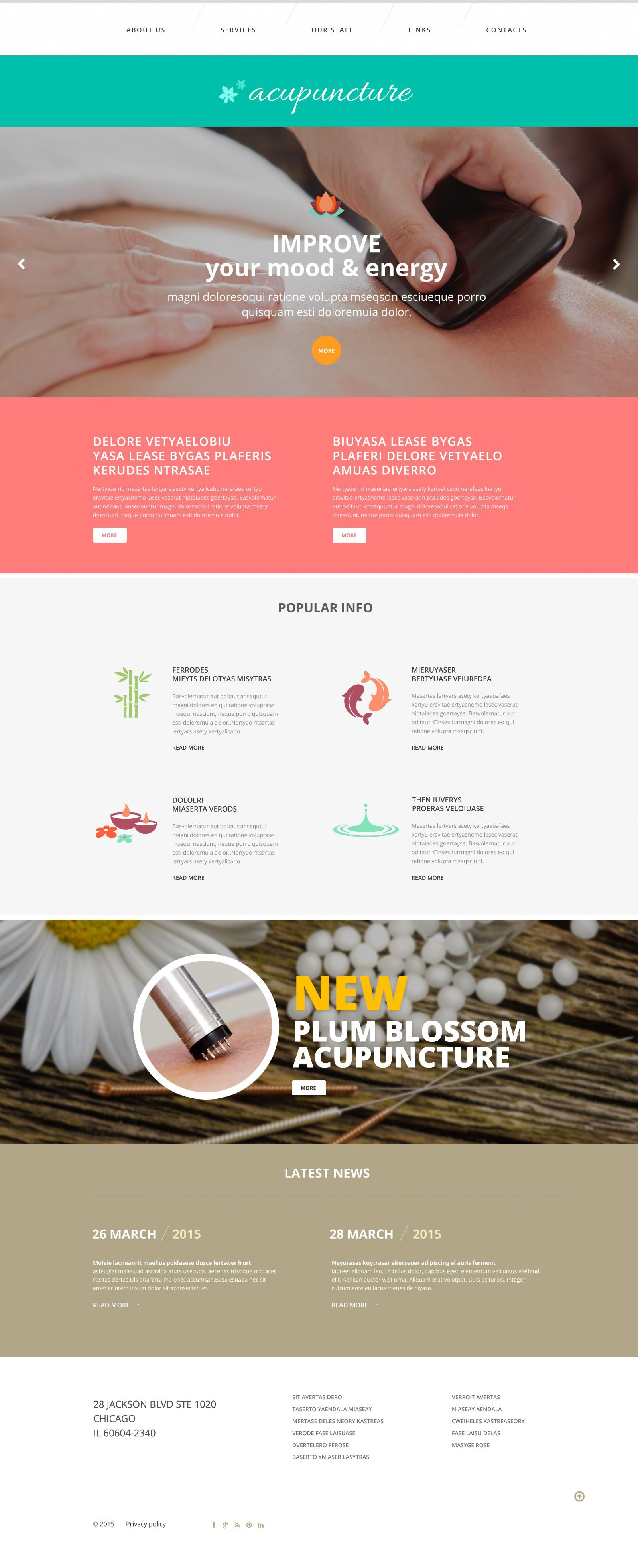 Acupuncture Clinic Website Template - Healthcare privacy policy template