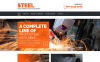 Адаптивный HTML шаблон №52807 на тему металлургическая компания New Screenshots BIG