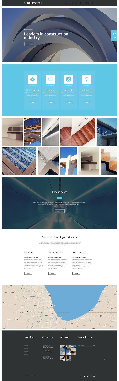 Адаптивный шаблон сайта на тему строительные компании #52833