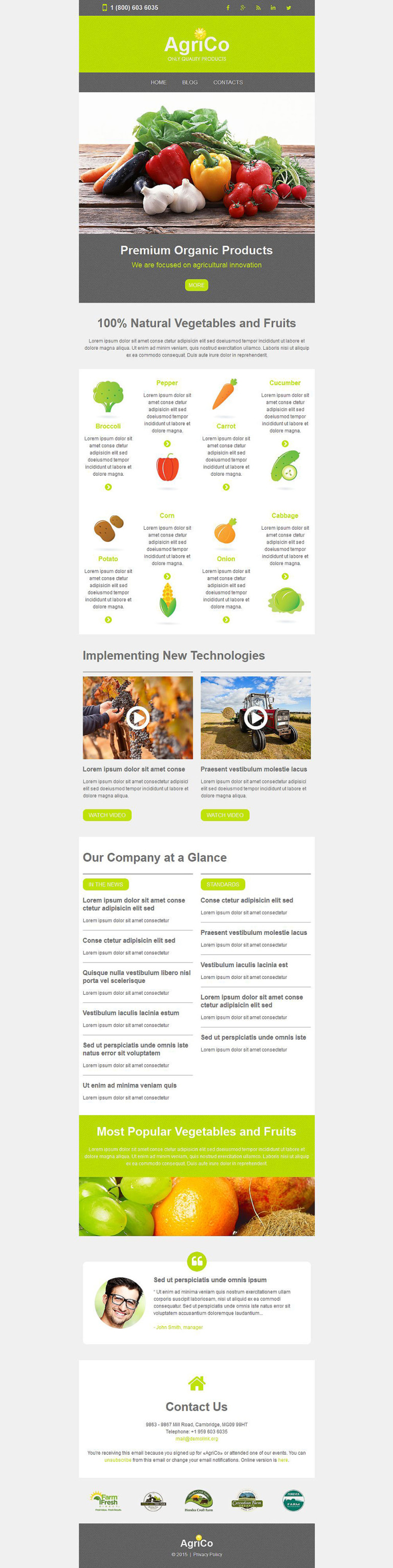 Agriculture Responsive Newsletter Template New Screenshots BIG