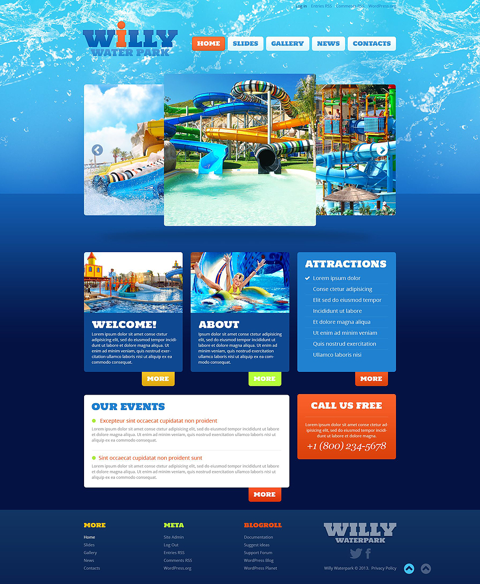 convert html template to wordpress theme online - amusement park responsive wordpress theme 52826