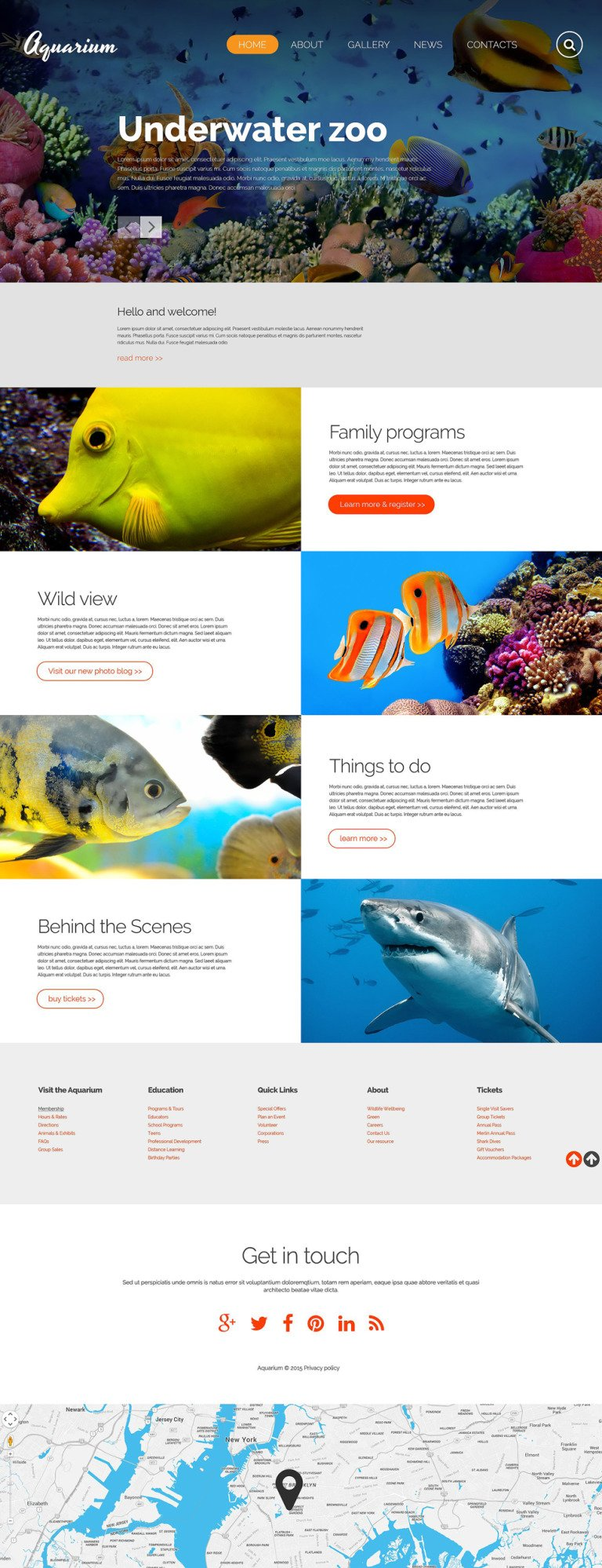 Aquarium Website Template New Screenshots BIG