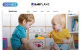 """""""Babyland - Kids Center Multipage Clean HTML"""" modèle web adaptatif"""