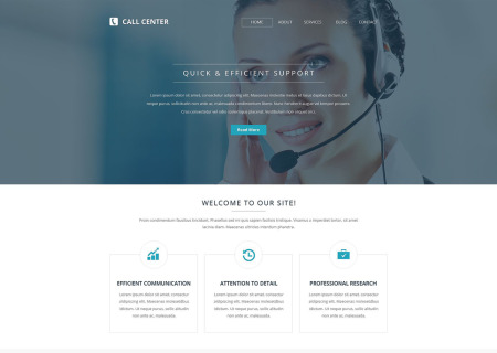 Call Center Responsive