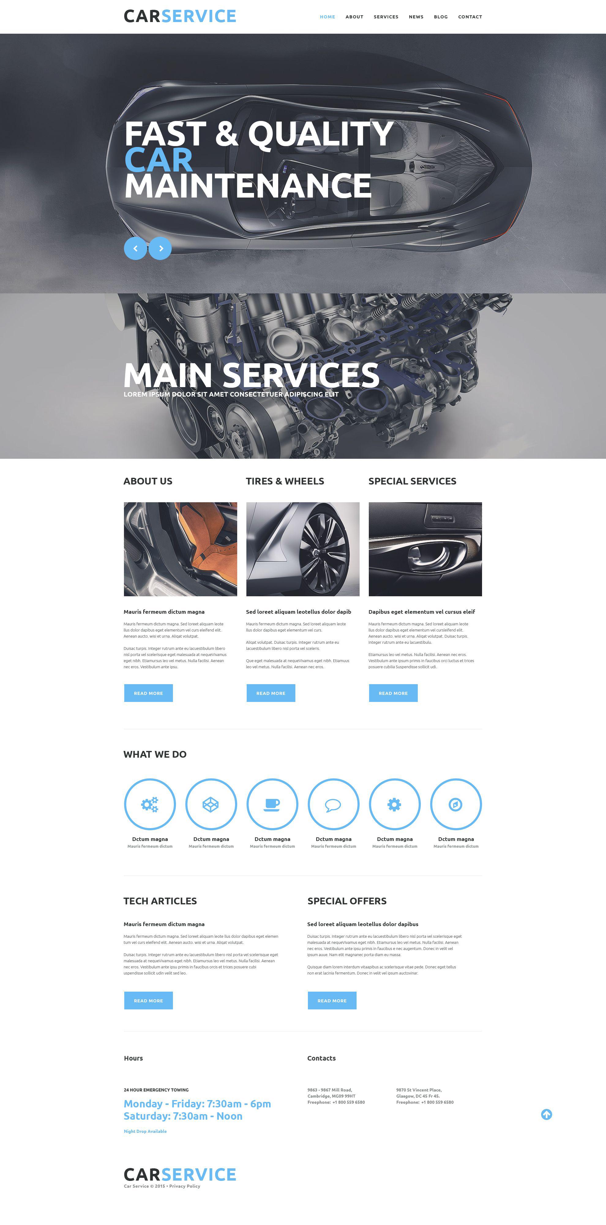 Car Repair Service Website Template #52817