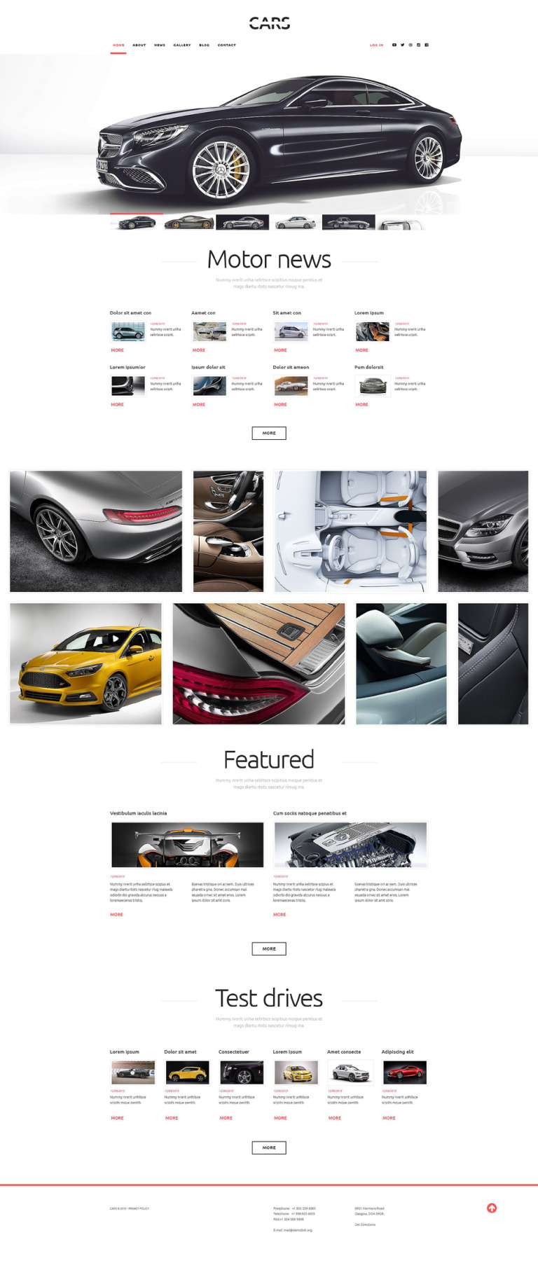 Cars WordPress Theme New Screenshots BIG