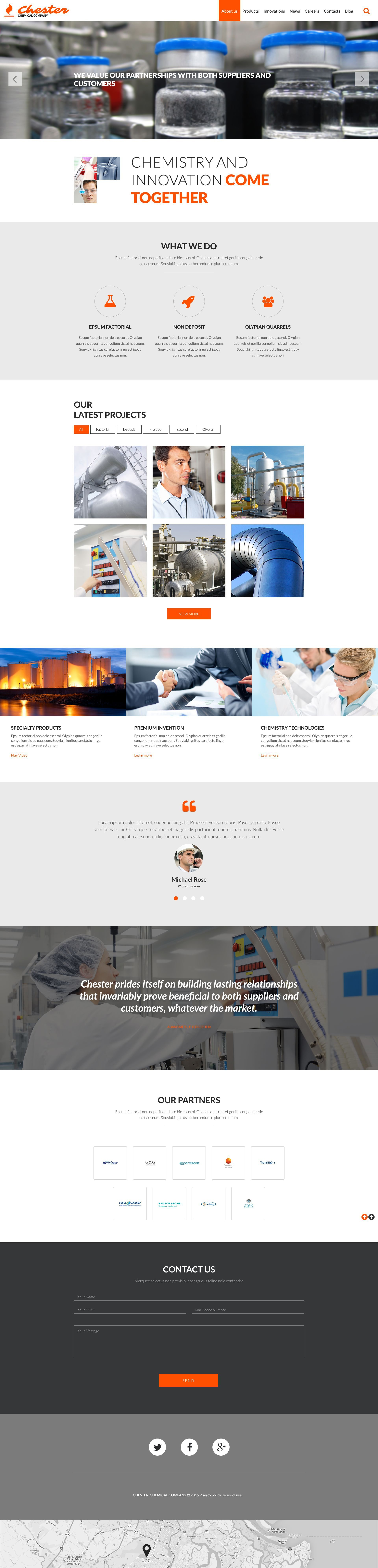 Chemical Company Website Template