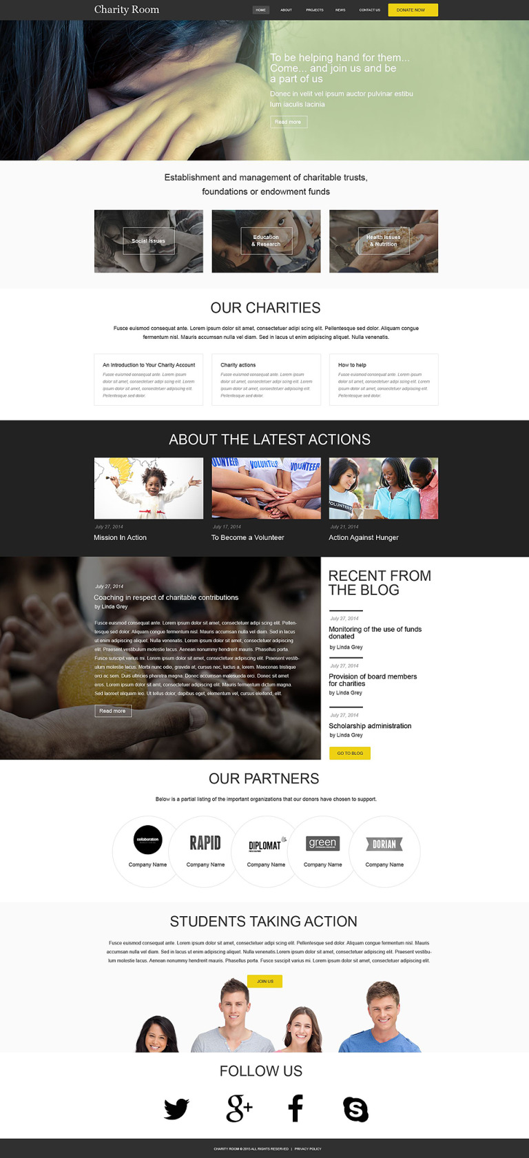 Child Charity Muse Template New Screenshots BIG