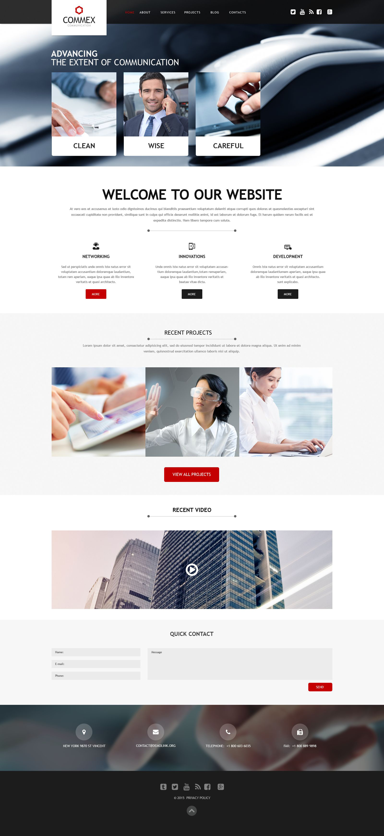 Communications Muse Template