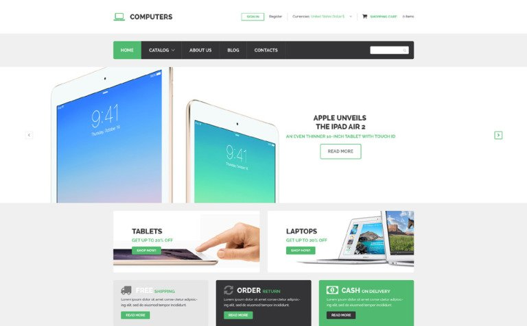 Computer Technology VirtueMart Template