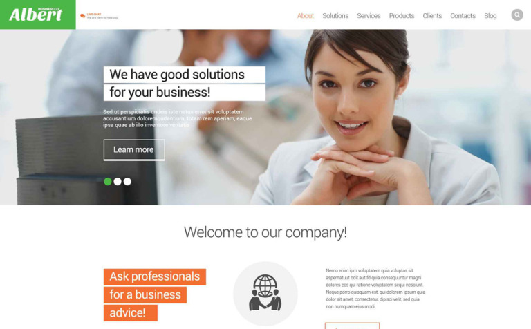Consultancy Business Website Template