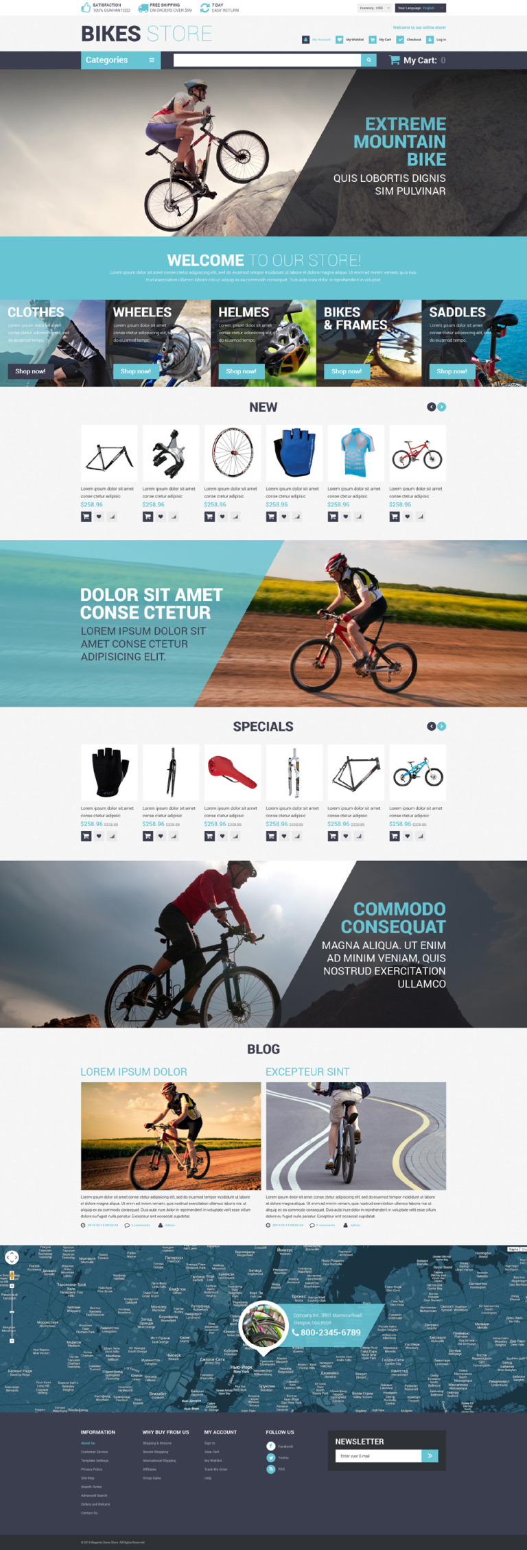Cycling Store Magento Theme New Screenshots BIG