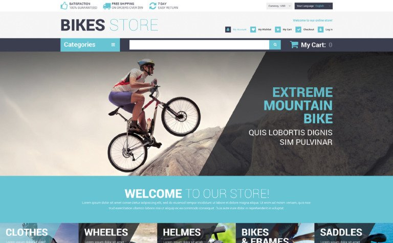 Cycling Store Magento Theme