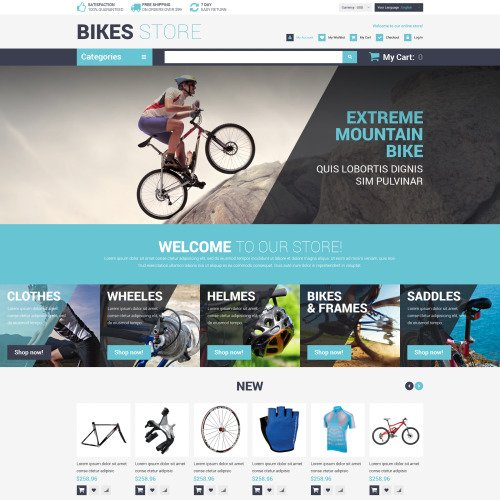 Bikes Store - Magento Template based on Bootstrap