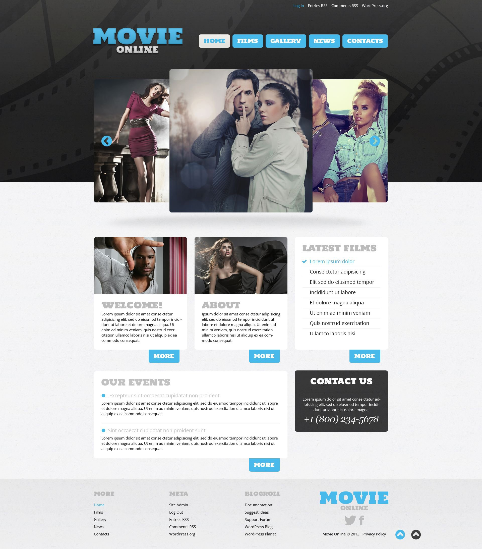DVD Store Responsive WordPress Theme