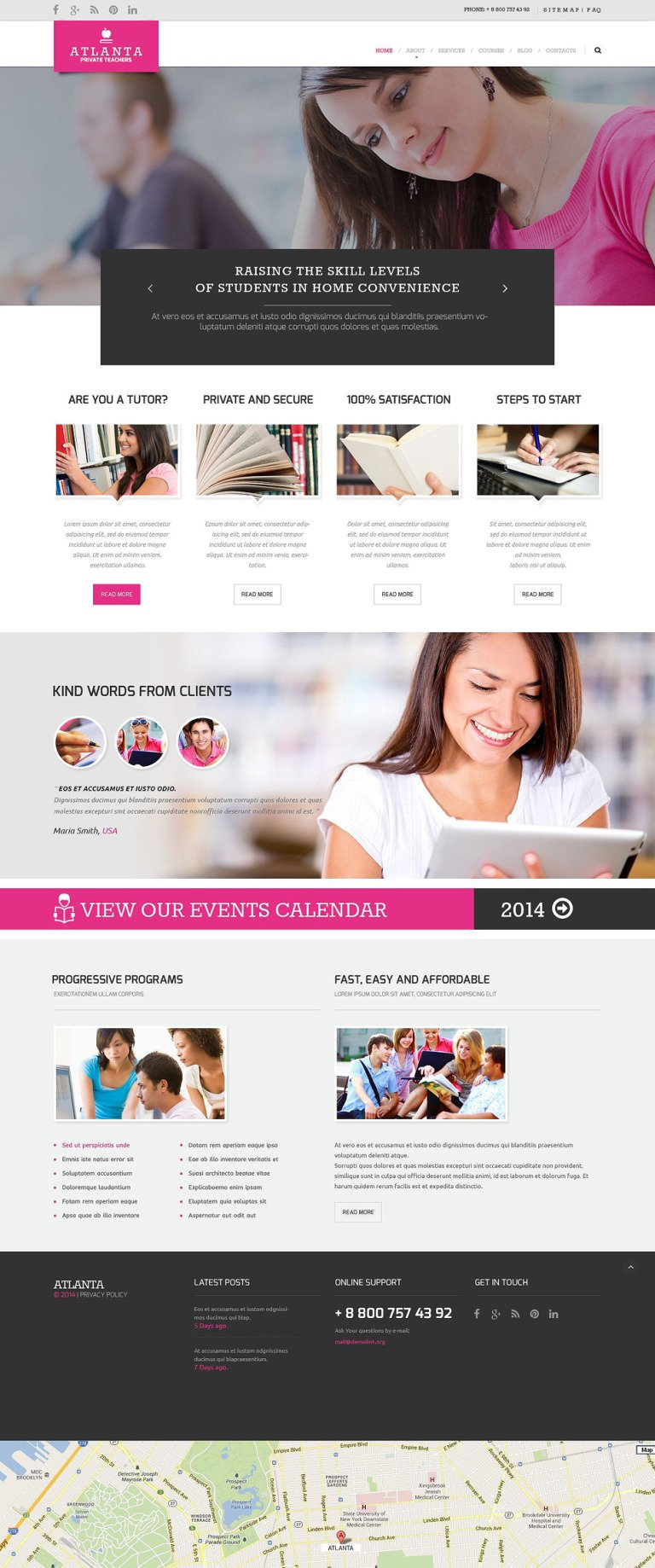 Education Responsive Website Template New Screenshots BIG