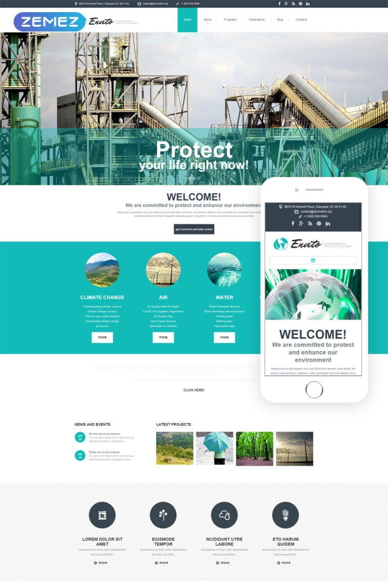 Environmental Responsive Joomla Template New Screenshots BIG