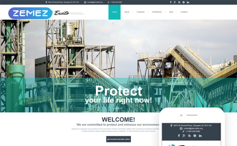 Environmental Responsive Joomla Template