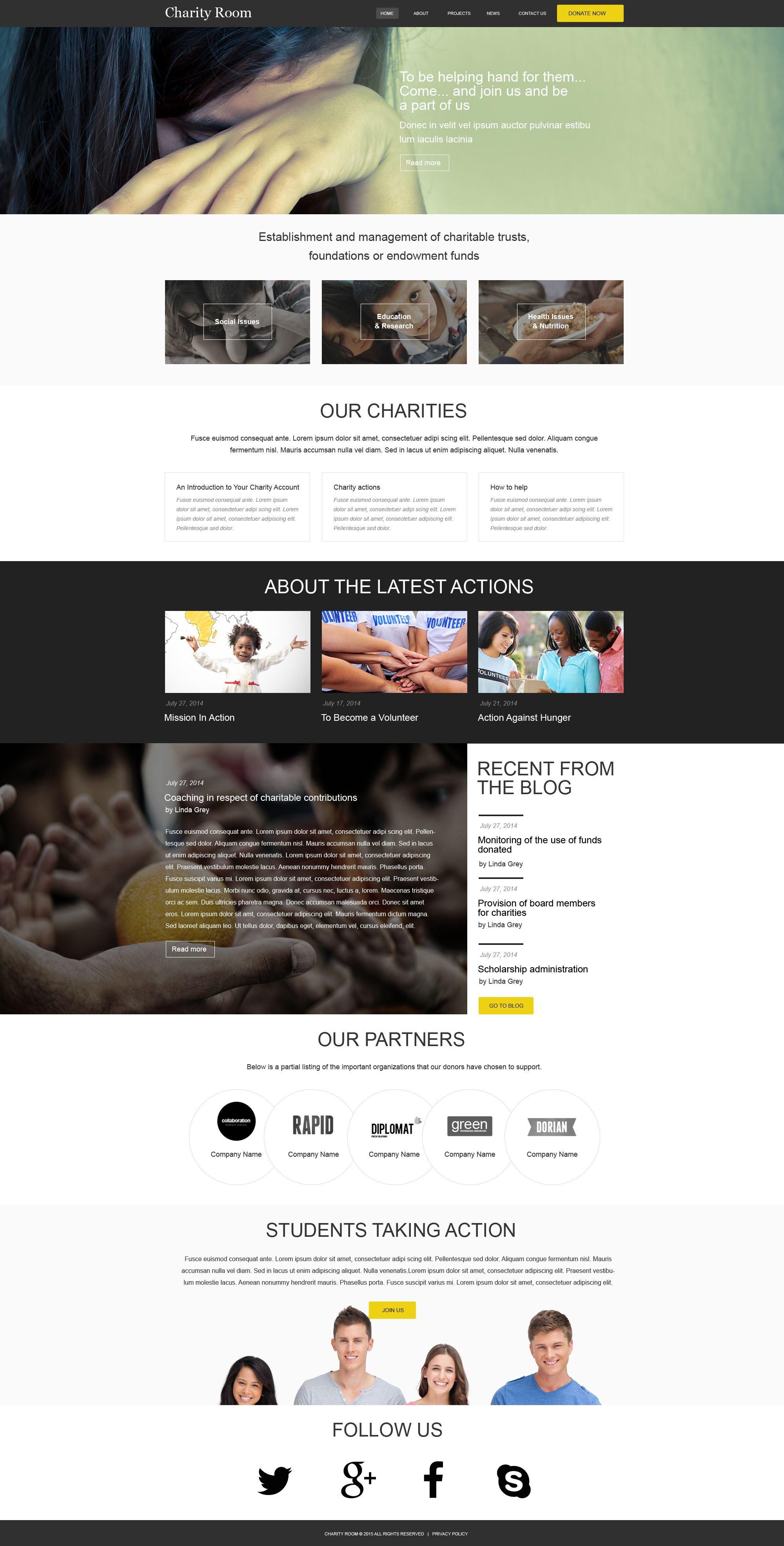 儿童慈善机构Muse 模板 #52870