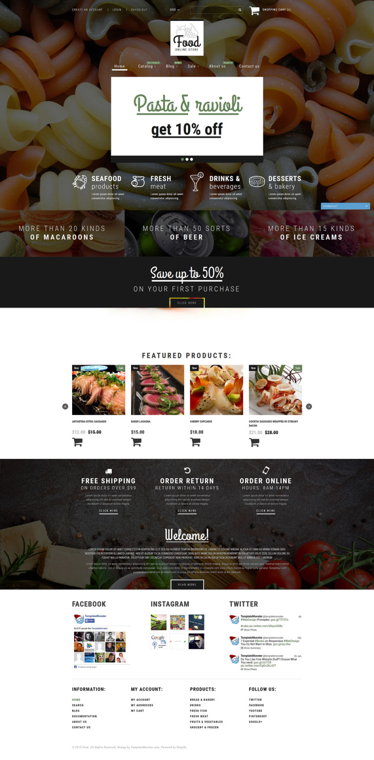 Food Shop Shopify Theme New Screenshots BIG