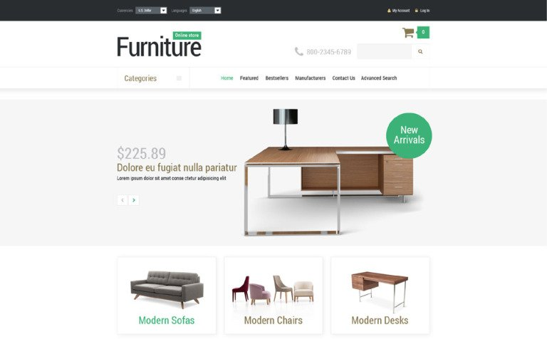 Furniture Manufacture OsCommerce Template