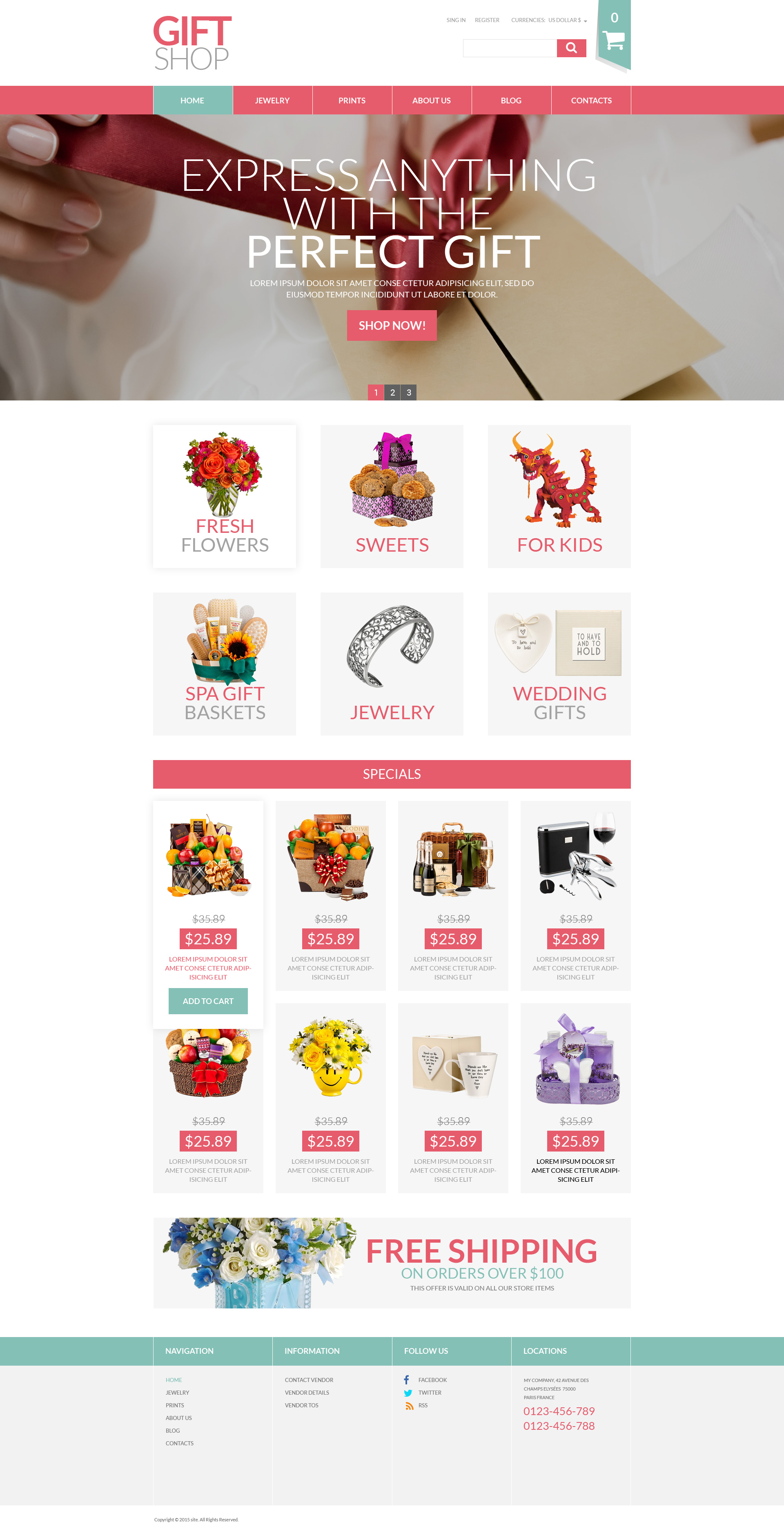 Gifts Shop Template VirtueMart №52823