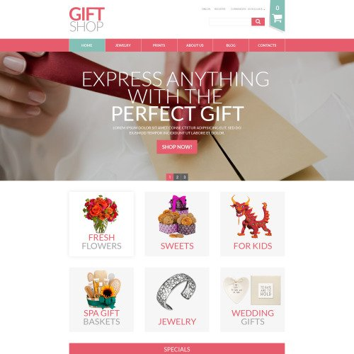 Gifts Shop - VirtueMart Template based on Bootstrap