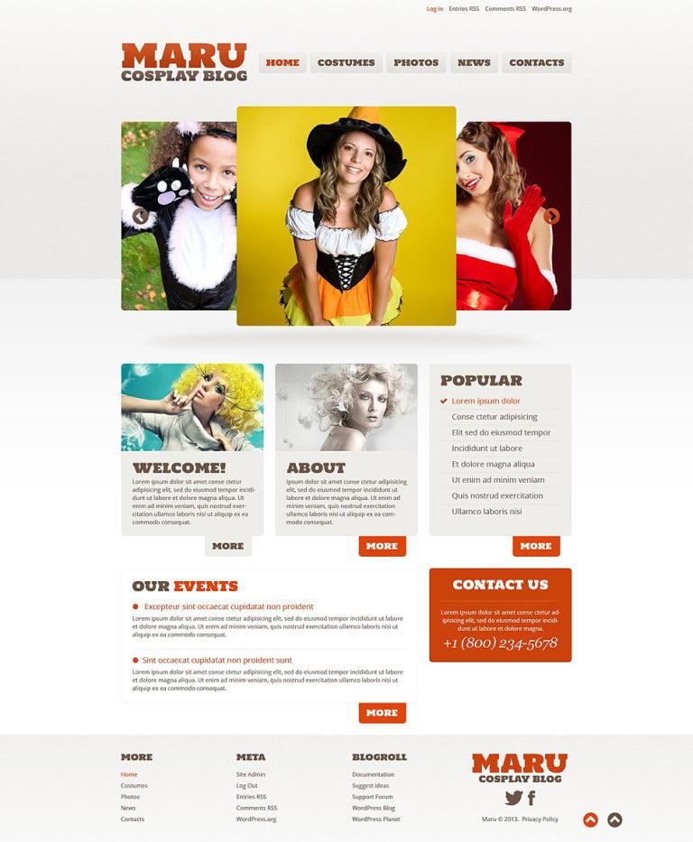 Halloween Responsive WordPress Theme New Screenshots BIG