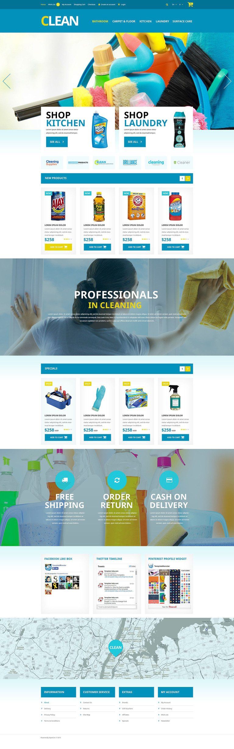 Home Cleaning Supplies OpenCart Template New Screenshots BIG