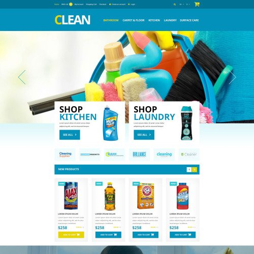 Clean   - OpenCart Template based on Bootstrap