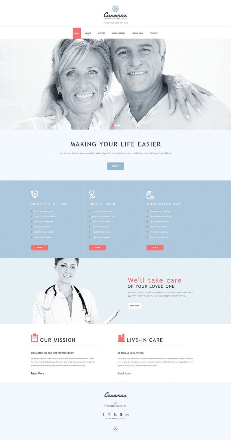 Home Health Care Services Joomla Template New Screenshots BIG
